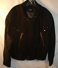 Wilson's Suede Black Leather Thinsulate Biker Bomber Motorcycle Jacket Men's L