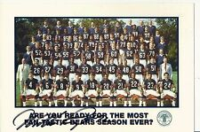 William The Refrigerator Perry signed 2005 Chicago Bears Town & Country team ad
