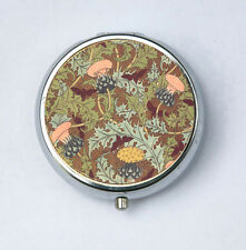 Art Nouveau Thistles Floral Pill case pillbox pill holder design Pattern