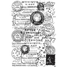 BACKGROUND POSTMARKS 1 Clear Unmounted Rubber Stamp Kaisercraft NEW