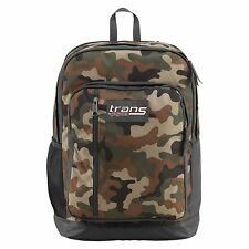 "Trans Jansport MegaHertz Backpack Fit 15"" Laptop Digital Tablet School CAMO Bag"