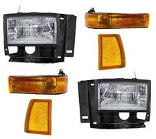 1991-94 FORD EXPLORER / 89-90 BRONCO II HEADLIGHTS, CORNER, & SIGNAL LAMPS COMBO