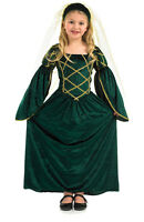 GIRLS MEDIEVAL TUDOR QUEEN LADY PRINCESS BOOK WEEK COSTUME OUTFIT NEW4 6 8 10 12