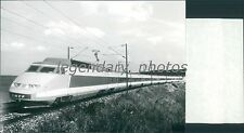 French National Railroad Modern TGV Train Original News Service Photo