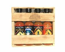 Hot Sauce Gift Set Ghost Pepper Habanero Package Deal Chili Sauce Wicked Tickle