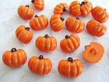 20 Fruit Kids Plastic Sewing Button/Trim/Shank/Sew/Orange Halloween Sb84-Pumpkin