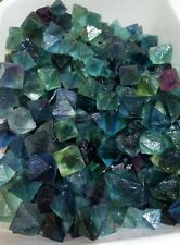 50g  Beautiful Blue & Green Fluorite Octahedron Crystals - LARGE - Bulk Lot