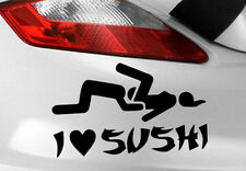 I Love Sushi Car Sticker Decal Funny Jdm Vinyl Window Euro Vw Bumper Dub Novelty