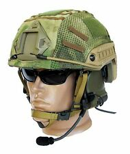 "Ballistic IIIA Bullet Proof High Cut Helmet + DISK + cover ""A-Tacs"""
