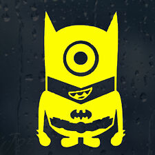 Divertidos Dibujos Animados Super Héroe Minion Batman Coche O Laptop calcomanía pegatina de vinilo