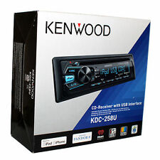 Kenwood KDC-258U Single DIN In-Dash CD/MP3 Stereo Receiver with USB/AUX - NEW!