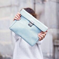 New 3.1 Phillip Lim Pashli Clutch Cloud Light Blue Clutch Bag
