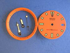 SEIKO DIVER 7002 ORANGE Dial Hands Minute Marker Ring SET NEW