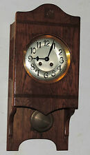 ANTIQUE FREE SWINGER WAG ON WALL CHIME CLOCK 8 DAY GERMAN WORKING REGULATOR