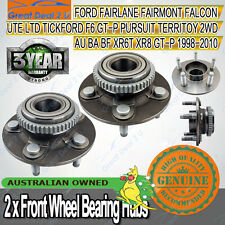 Pair Front Wheel Bearing Hubs Ford Territory 2WD Falcon Fairmont AU BA BF XR6