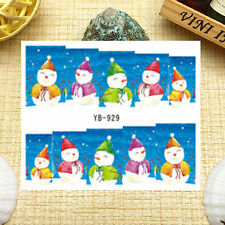 Nail Art Manicure Water Transfer Decal Stickers Christmas Santa Claus YB929