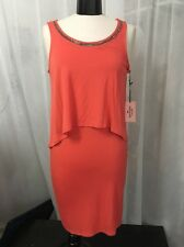 Juicy Couture Orange Cheyenne Solid Overlay Dress Women's Size Small NWT
