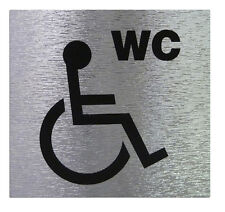 """DISABLE TOILET "" Sign High Quality Brushed Metallic Self Adhesive Material"