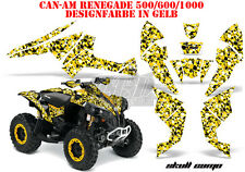 Amr racing décor Graphic Kit ATV CAN-AM renegade, ds250, ds450, ds650 skull Camo B
