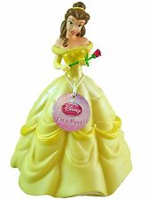 "Disney Beauty Princess Belle 11"" Molded Coin Piggy Bank with Rose for Kids"