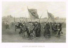 """Duyckinck -War for the Union - """"ATTACK AT KELLY'S FORD, VIRGINIA"""" - Eng. - 1865"""