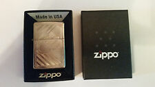 Official Zippo Lighter. 80th Anniversary. Brushed Chrome. Brand New in Box