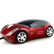 Stylish Car Shape USB 3D Optical Mouse Mice Front & Rear LED Light For PC/Laptop