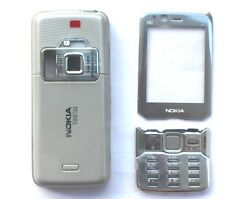 New Full Housing Cover Case W/Keypad +Display Lens for Nokia N82 Silver Generic