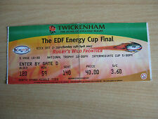Ospreys vs Leicester tigers EDF cup final 15 April 2007 TICKET