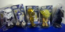 5 Funko STAR WARS Mini Bobblehead Wacky Wobbler R2D2 Yoda C3P0 Vader Bobble Head