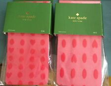 KATE SPADE NEW YORK TIGHT BOUGAINVILLEA HEART JACQUARD TIGHTS RED NWT $30 M/L