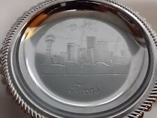 Dallas Texas TX Ashtray Coin Ash Tray Shiny Metal Chrome