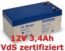 AGM Gel 12Volt Akku Ersatzakku Batterie Notstrom 12V 3A 3,1Ah 3,2Ah 3,3Ah 3,4Ah