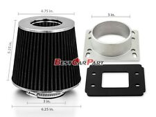 88-95 Toyota Pickup 4Runner 2.4L 2.7L 3.0L MAF Air Intake Adapter +BLACK Filter