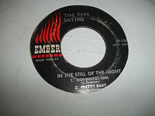"THE FIVE SATINS ""IN THE STILL OF THE NITE"" RARE EMBER 45 EP 104 SCRATCHES"