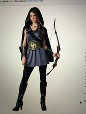 Katniss Everdeen Costume Hooded Huntress Hunger Games Halloween Fancy Dress
