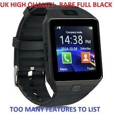 BLACK Bluetooth Smart Watch Phone Mate For Samsung LG HTC with Camera SIM DZ09
