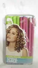 CONAIR SPIRAL CURLS 18 CT FLEXIBLE ROLLERS ~  HAIR CURLERS