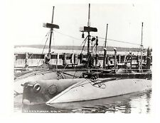 WWII Historic US Navy Ship M.B. Plunger SS-2 (A-1) Official Photo 8x10