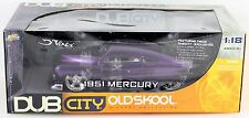 RARE 2005 Jada Toys Dub City Old Skool 1951 Mercury 1:18 Purple Die Cast Car NIB