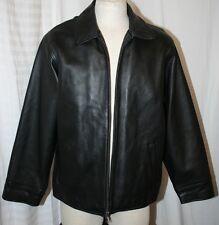 EDDIE BAUER UNISEX LEGEND FINE JACKET SUPPLE SOFT leather COAT BLACK TXL XL $400