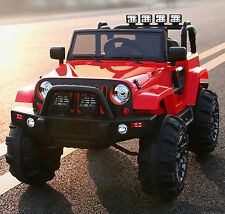 12V MP3 Kids Ride on Jeep Truck R/c Remote Control, LED Lights AUX and Music