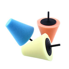 Burnishing Buffing Polishing Cone Sponge Metal Car Wheel Hub Polish Tool Shank