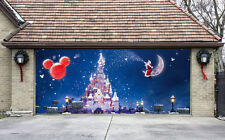 Christmas Garage Door Covers 3D Banners Outside House Decorations Billboard G67