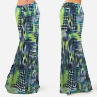 NEW Ladies Womens Maxi Boho Summer Long Skirt Evening Cocktail Party Dress 6-14