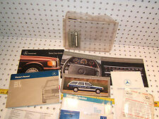 Mercedes 88 W124 260E Owner's 1 set of 12 Manual/Paper & Mercedes Clear 1 Pouch