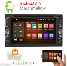"""Android 6.0 Double 2Din 6.2"""" Car Stereo Radio GPS WiFi 3G OBD BT DVD Player Link"""