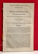 House Report on William Medill, Commissioner of Indian Affairs - 1849