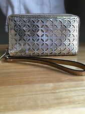 Michael Kors Gold Perforated Cell Phone Wristlet Wallet AP-1311