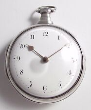 Georgian Verge Fusee Silver Pair Cased Pocket Watch Glasco & Son London c.1817